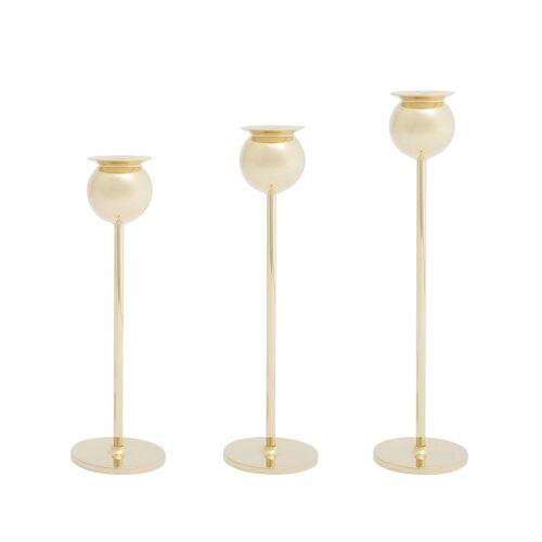 Skultuna 'Tulip' 3er-Set Kerzenständer - Gold Unisex regular