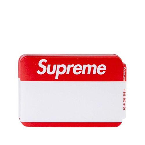Supreme Namensschild-Sticker mit Logo - Rot Male regular