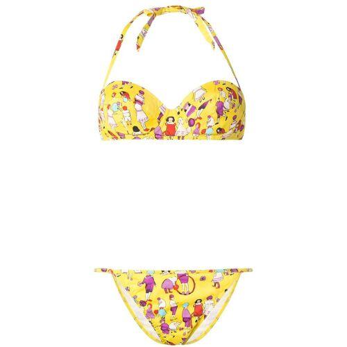 Chanel Pre-Owned 2001 Bikini mit Print - Gelb Unisex regular
