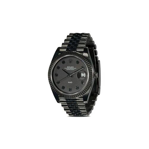 MAD Paris Personalisierte 'Rolex Datejust' Armbanduhr, 36mm - Schwarz Male regular