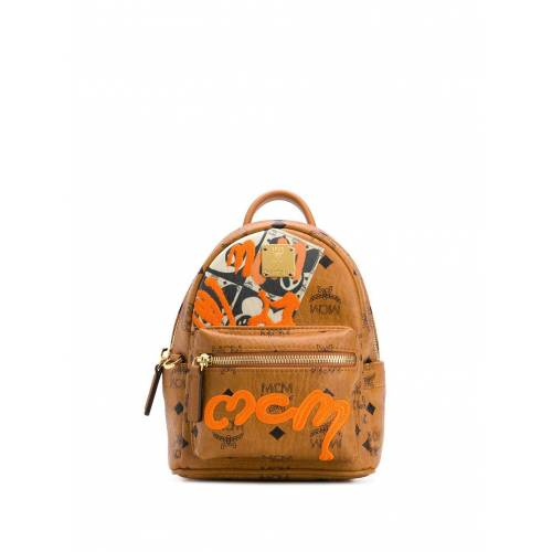 MCM Mini Rucksack mit Graffiti - Braun Female regular