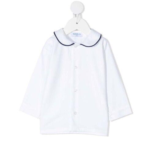 Siola Hemd mit Kontrastkragen - Weiß Male regular