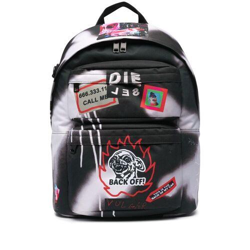 Diesel Rucksack mit Graffiti-Logo - Schwarz Male regular