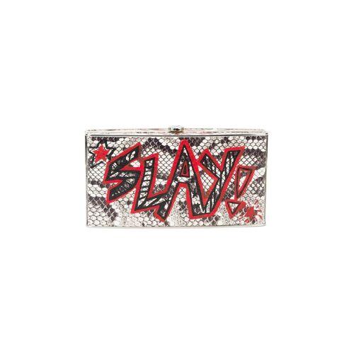 Elisabeth Weinstock Elisabeth Weinstock x Re/Done Box-Clutch mit Graffiti-Print - Schwarz Female regular