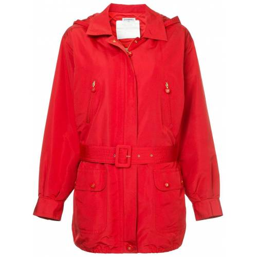 Chanel Pre-Owned Jacke mit Kapuze - Rot Male regular