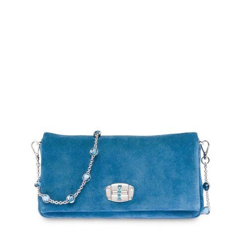 Miu Miu Clutch mit Kristallen - Blau Female regular