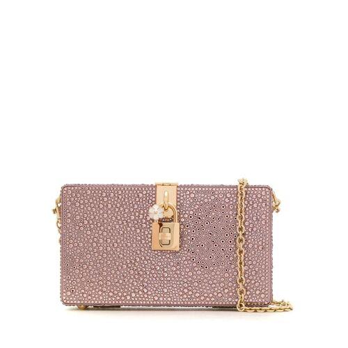 Dolce & Gabbana Clutch mit Kristallen - Rosa Male regular