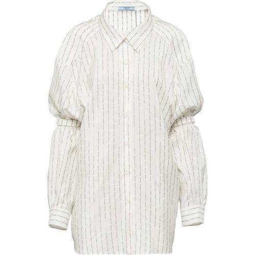 Prada Pongé-Hemd mit Ärmelhaltern - Weiß Female regular