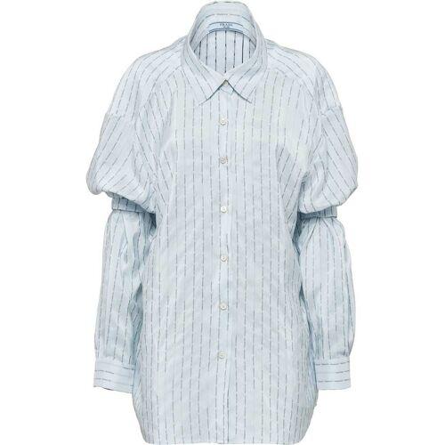 Prada Pongé-Hemd mit Ärmelhaltern - Blau Female regular