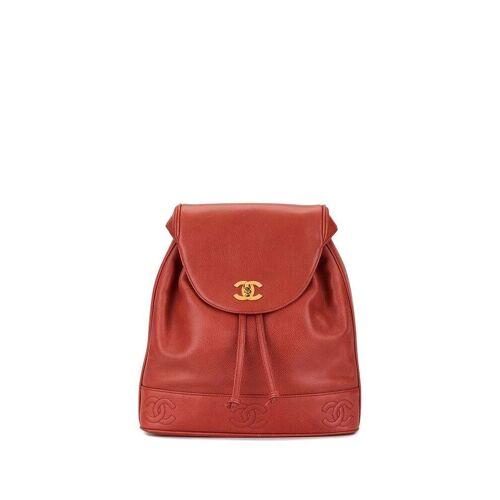 Chanel Pre-Owned Rucksack mit CC-Logo - Rot Female regular