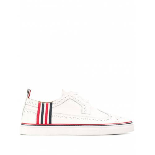 Thom Browne Sneakers mit Budapestermuster - Weiß Male regular
