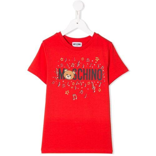 Moschino Kids T-Shirt mit Musiknoten - Rot Male regular