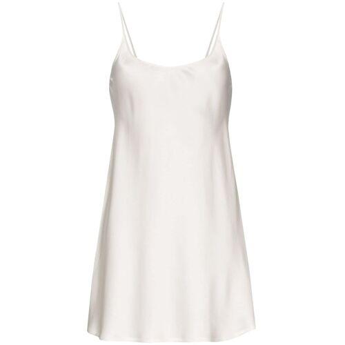 La Perla Kurzes Nachthemd aus Seide - Weiß Female regular