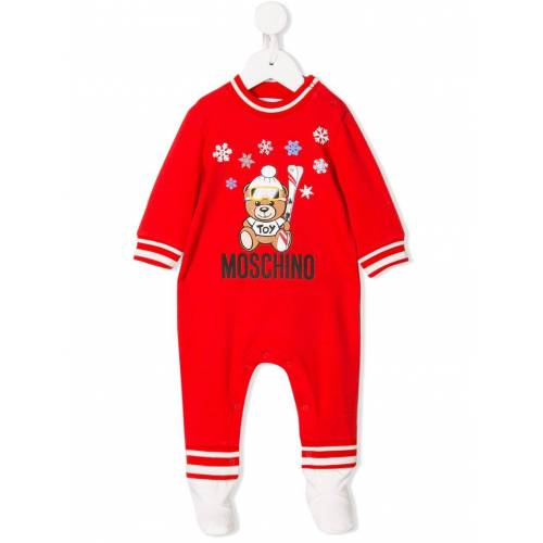 Moschino Kids Pyjama mit Teddy - Rot Male regular