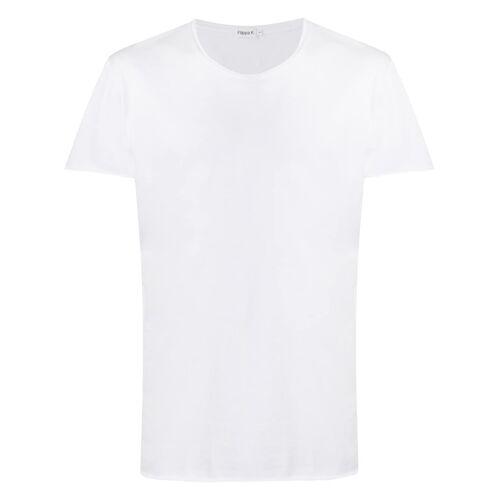 Filippa K T-Shirt mit gerollten Kanten - Weiß Male regular