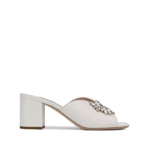 Miu Miu Sandalen mit Kristallen - Weiß Female regular