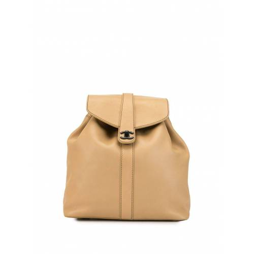 Chanel Pre-Owned 1995 Rucksack mit CC - Nude Female regular