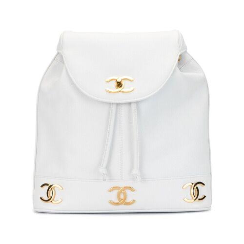 Chanel Pre-Owned 1992 Rucksack mit CC - Weiß Female regular