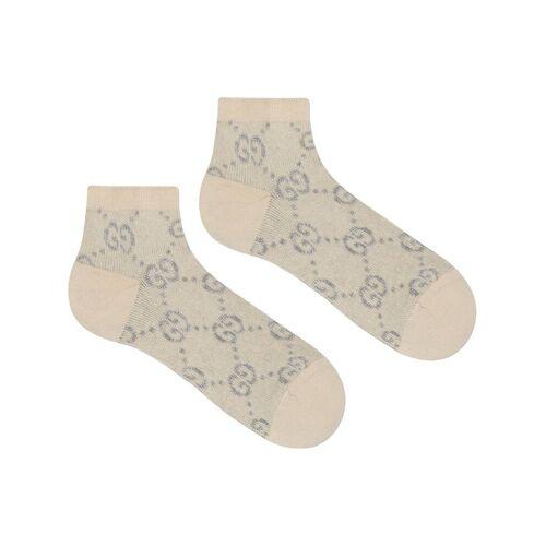 Gucci Lamé-Socken mit GG - Weiß Female regular