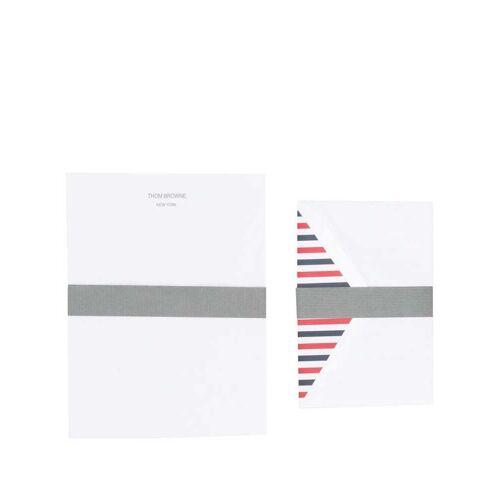 Thom Browne 8-teiliges Briefset mit RWB-Streifen - Weiß Male regular