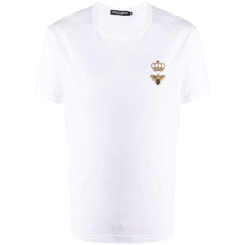Dolce & Gabbana T-Shirt mit Bienenstickerei - Weiß Unisex regular