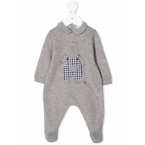 Il Gufo Pyjama mit Teddy-Print - Grau Male regular