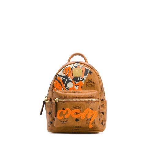 MCM Mini Rucksack mit Graffiti - Braun Female regular
