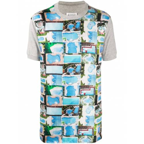 Maison Margiela T-Shirt mit Pool-Print - Grau Male regular