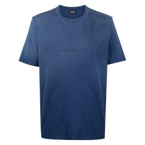 Diesel T-Shirt mit Copyright-Logo - Blau Male regular