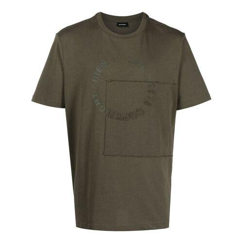 Diesel T-Shirt mit Copyright-Logo - Grün Male regular