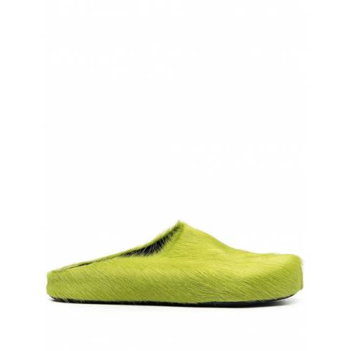 Marni Slipper aus Kalbshaar - Grün Male regular