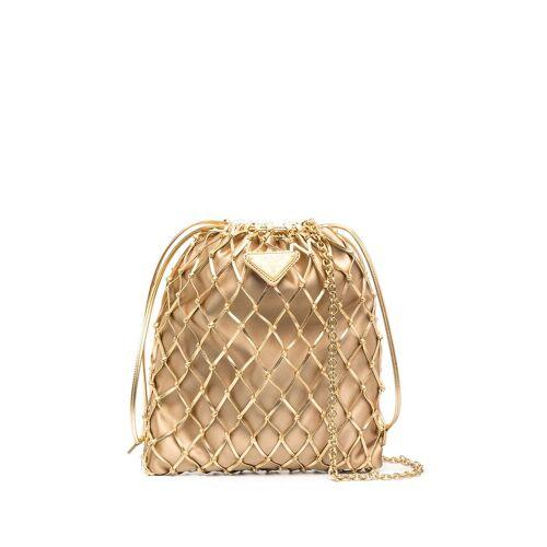 Prada 'Nero' Mini Rucksack - Gold Female regular