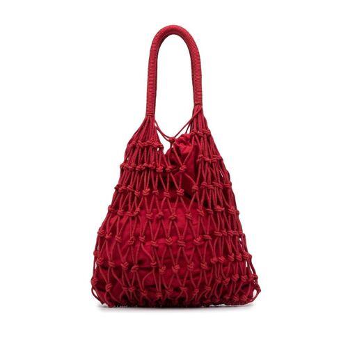 P.A.R.O.S.H. Handtasche mit Häkelmuster - Rot Male regular