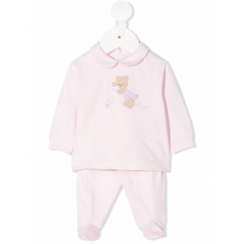 Il Gufo Pyjama-Set mit Teddy-Patch - Rosa Male regular