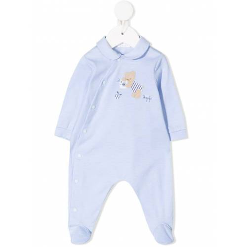 Il Gufo Pyjama mit Teddy-Patch - Blau Female regular