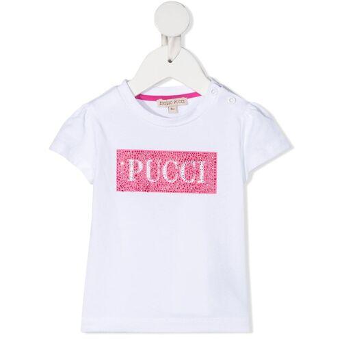 Emilio Pucci Junior T-Shirt mit Kristallen - Weiß Male regular