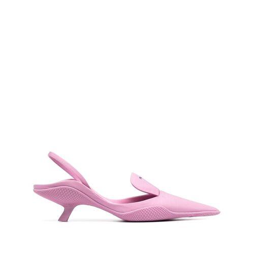Prada Nylon Slingback-Pumps 60mm - Rosa Male regular