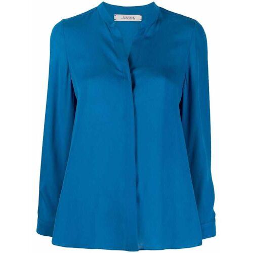 Dorothee Schumacher Fluid Luxury Seidenbluse - Blau Male regular