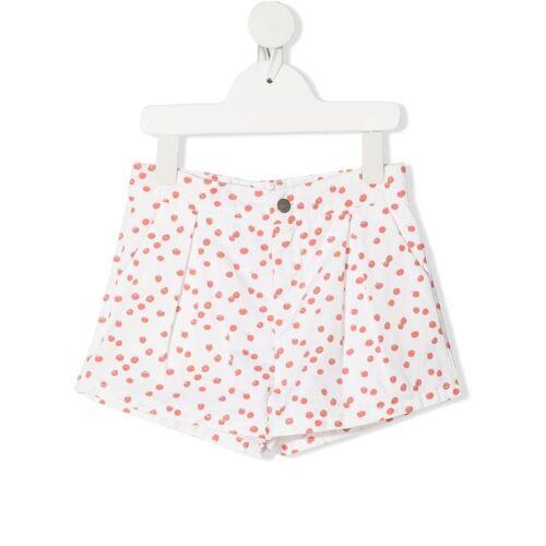 Knot Shorts mit Kirschtomaten-Print - Weiß Male regular