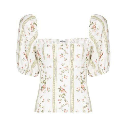 Reformation Arancini floral-print blouse - Weiß Male regular