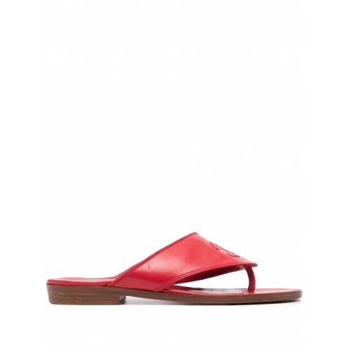 Chanel Pre-Owned Flache Sandalen mit CC - Rot Male regular