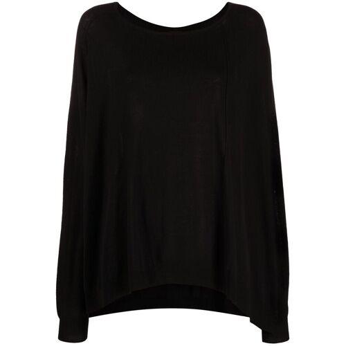 Rundholz Pullover mit tiefer Schulter - Schwarz Male regular