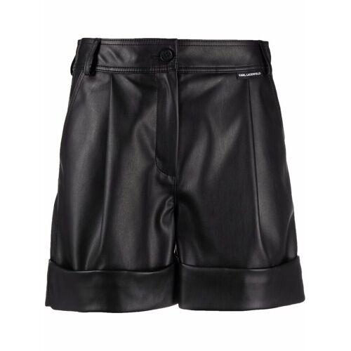 Karl Lagerfeld Shorts mit Umschlag - Schwarz Male regular