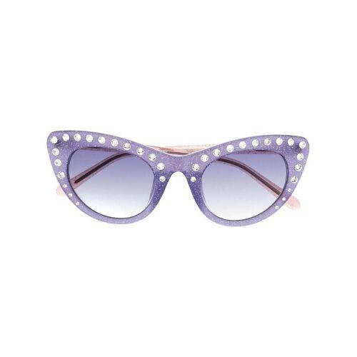 Nº21 Cat-Eye-Sonnenbrille mit Kristallen - Grün Unisex regular