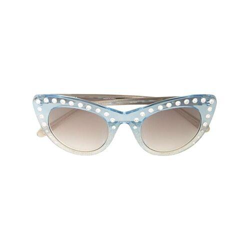 Nº21 Cat-Eye-Sonnenbrille mit Kristallen - C4SUN Male regular