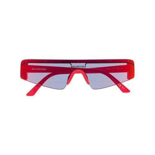Balenciaga Eyewear Futuristische Sonnenbrille - Rot Male regular