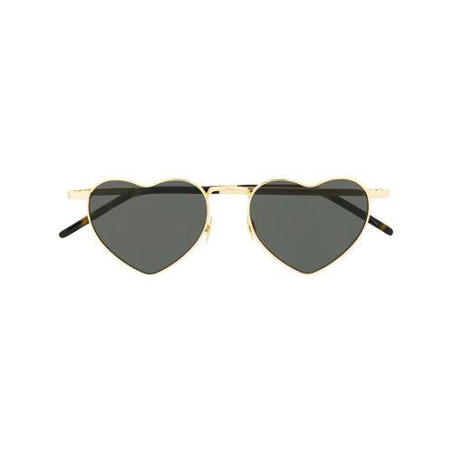 Saint Laurent Eyewear Sonnenbrille mit Herzform - Gold Male regular