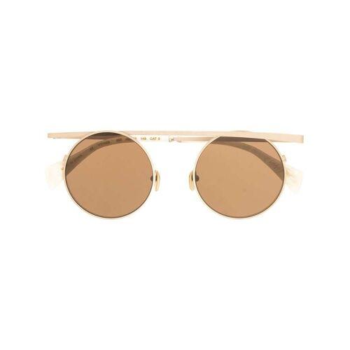 Yohji Yamamoto Sonnenbrille mit durchgehendem Steg - Gold Male regular