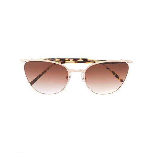 Matsuda Cat-Eye-Sonnenbrille - Braun Male regular