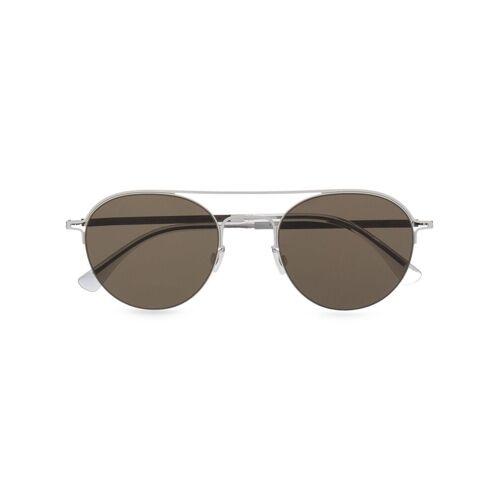 Mykita Sonnenbrille mit Doppelsteg - Silber Unisex regular